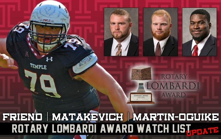 2015 Rotary Lombardi Award nominees